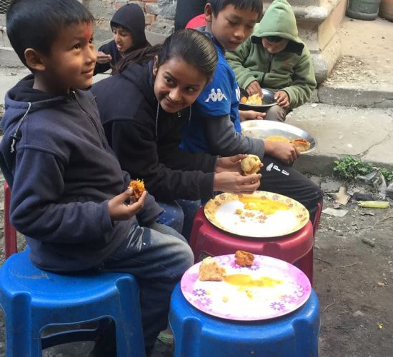 Children feeding